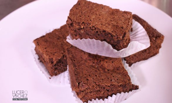 BROWNIES CON CHOCOLATE Y BANANO