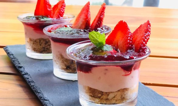 CHEESECAKE LIGHT DE FRESAS